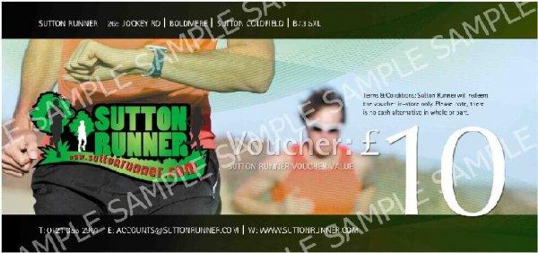 £10 Sutton Runner Gift Voucher-0