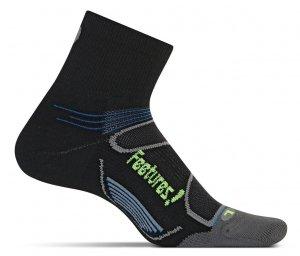Feetures Light Cushion Quarter Black/Blue-0
