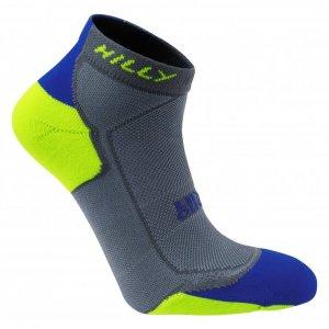 Unisex Hilly Lite-Cushion Sock Blue/Yel-0