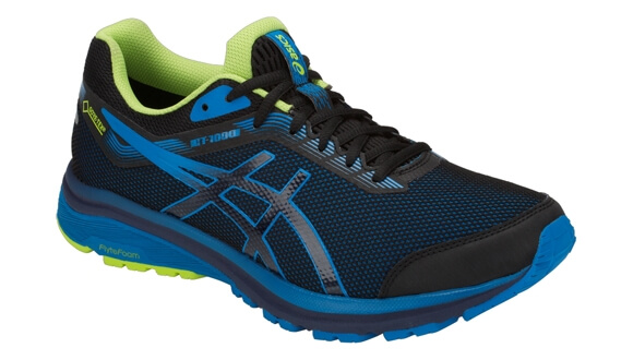 Mens Asics GT 1000 7 GTX Black/Blue-9069
