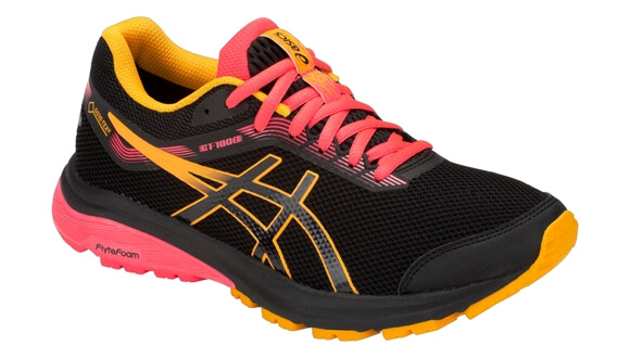 Womens Asics GT 1000 7 GTX Black/Pink - Sutton Runner