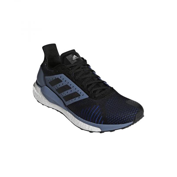 Mens Adidas Solar Glide ST Black/Grey-9327