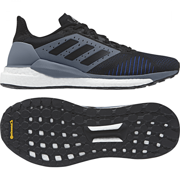 Mens Adidas Solar Glide ST Black/Grey-9331
