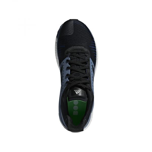 Mens Adidas Solar Glide ST Black/Grey-9332