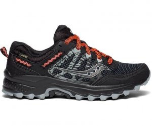 Womens Saucony Excursion TR12 GTX Black/Orange-0
