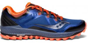Mens Saucony Peregrine 8 Blue/Orange-9973