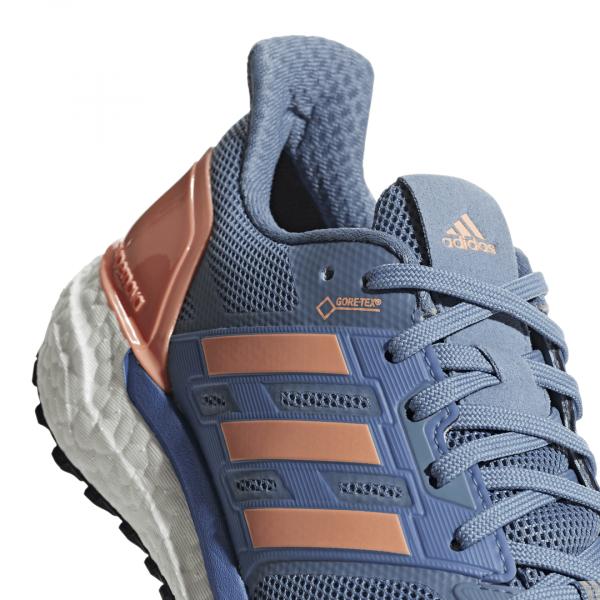Womens Adidas Supernova GTX Blue/Orange-9273