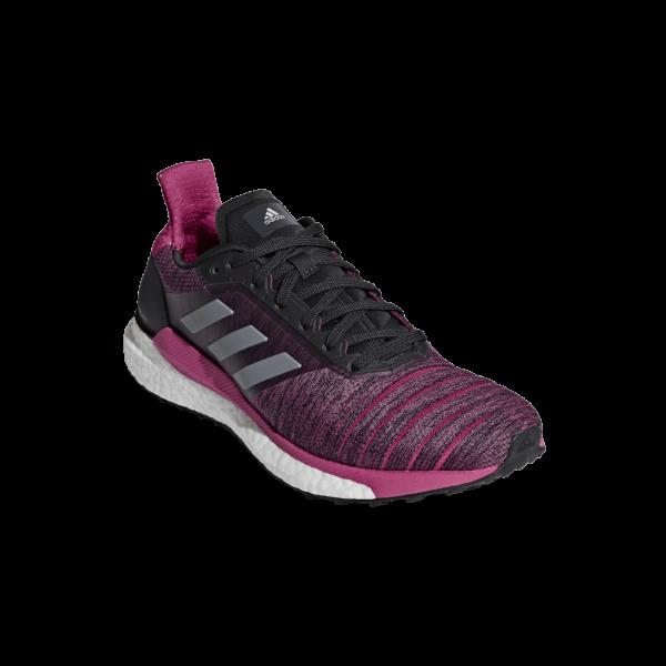 Womens Adidas Solar Glide Pink/Black-9183
