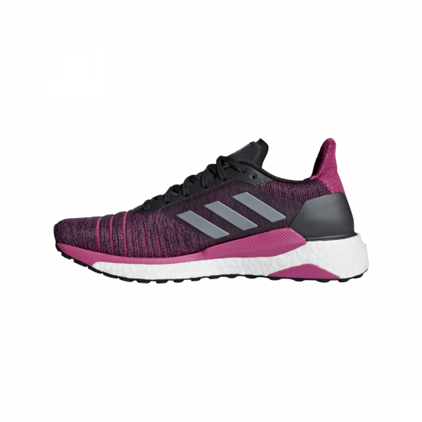 Womens Adidas Solar Glide Pink/Black-9185