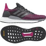 Womens Adidas Solar Glide Pink/Black-9186