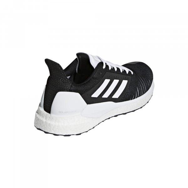 Womens Adidas Solar Glide ST Black/White-9223