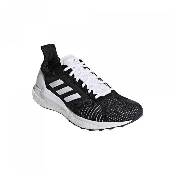 Womens Adidas Solar Glide ST Black/White-9226