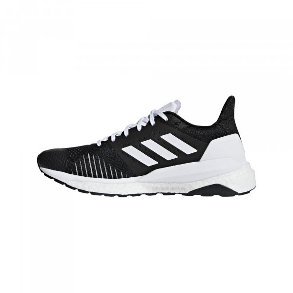 Womens Adidas Solar Glide ST Black/White-9225