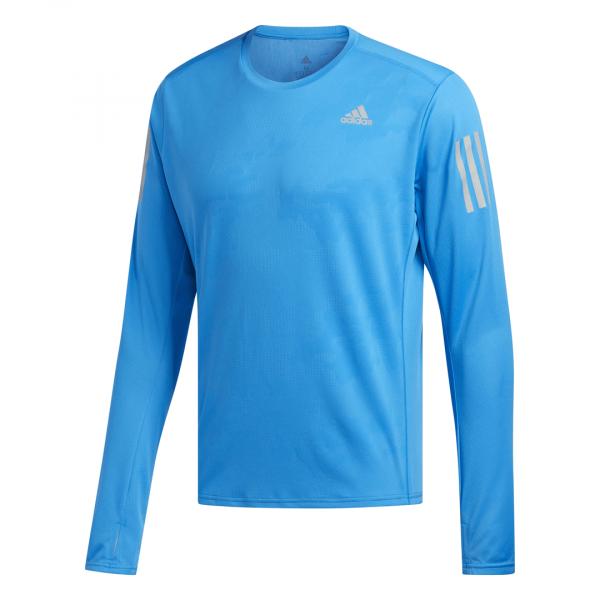 Mens Adidas Response LS Tee Blue-0