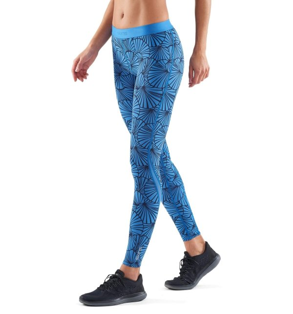 SKINS DNAmic Womens Long Tights SF Blue-9152