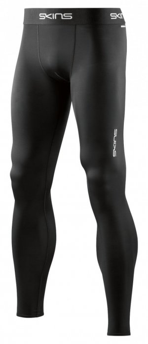 Mens Skins DNAmic FORCE L/Tight Black-0