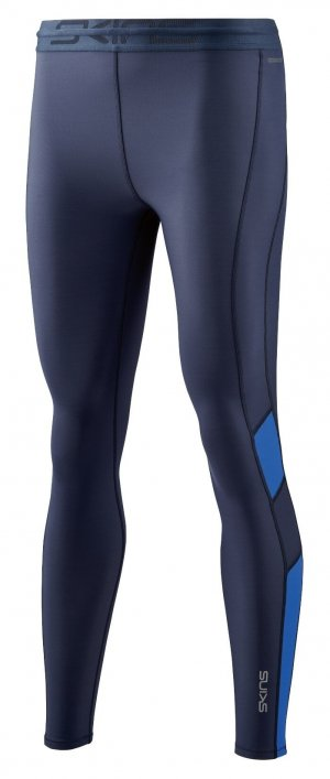Womens Skins DNAmic Thermal Long Tight Navy-0