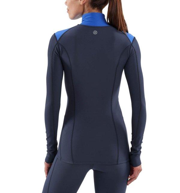 Womens Skins DNAmic Thermal Long Sleeve Top Navy-9157