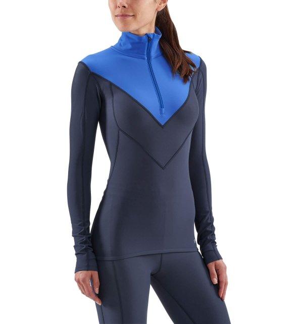 Womens Skins DNAmic Thermal Long Sleeve Top Navy-9154