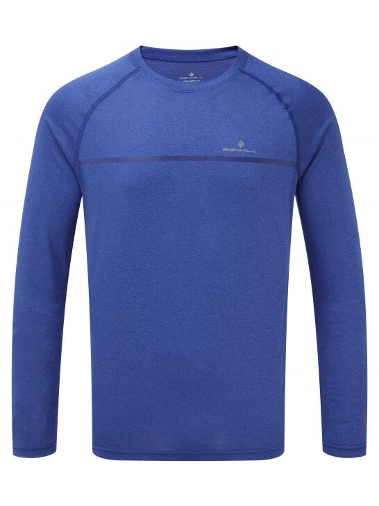 Mens Ronhill Everyday L/S Tee Blue-0