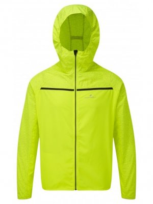 Mens Ronhill Momentum Afterlight Jacket Fluo Yellow-0