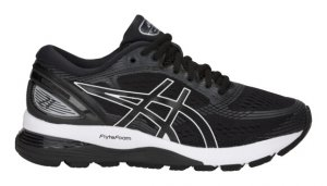 Womens Asics Gel Nimbus 21 Black/White-0