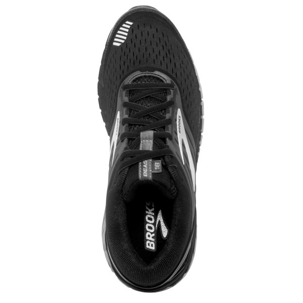 Mens Brooks Beast 18 4E Black-9647