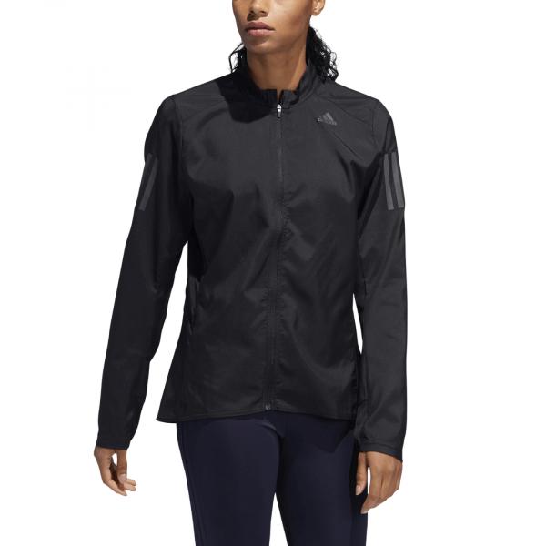 Womens Adidas Own The Run Jacket Black-9565
