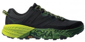 Mens Hoka Speedgoat 3 Black/Green-0