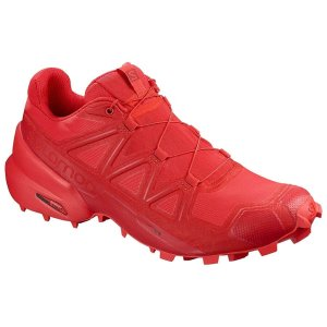 Womens Salomon Speedcross 5 Red-0