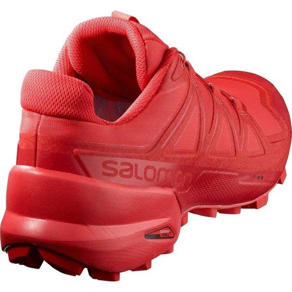 Womens Salomon Speedcross 5 Red-10322