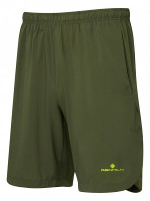 "Mens Ronhill Momentum 9"" Short Green-0"
