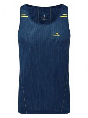 Mens Ronhill Stride Racer Vest Blue-0
