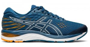 Mens Asics Gel Cumulus 21 Blue/White-0