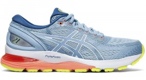 Womens Asics Gel Nimbus 21 Blue-0