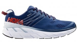 Mens Hoka One One Clifton 6 Blue/Red-0