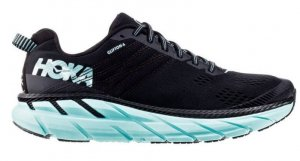 Womens Hoka One One Clifton 6 Blk/Green-0