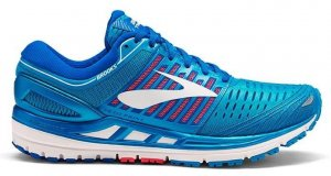 Womens Brooks Transcend 5 Blue/Pink-0