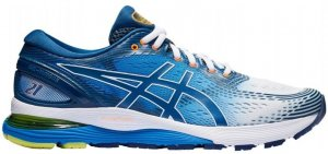 Mens Asics Gel Nimbus 21 White/Blue-0