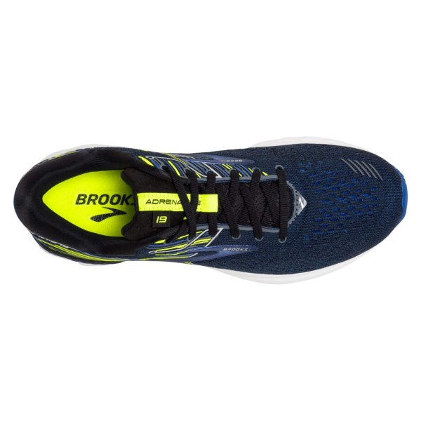 Mens Brooks Adrenaline GTS 19 2E Width Blue/Yel-10134