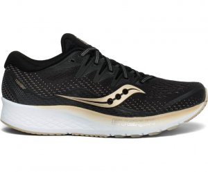 Womens Saucony Ride ISO 2 Black/Gold-0