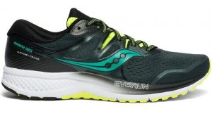 Mens Saucony Omni ISO 2 Green/Black-0